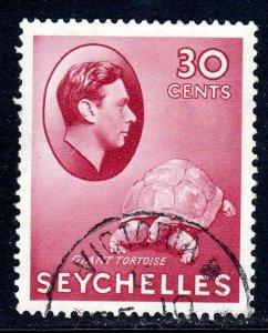 SEYCHELLES-- 1938- sg142  -  30 cents  -carmine - used - £11.00