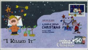 SC 5030, 2015, Charlie Brown Christmas, FDC, DCP, Tree, 15-272