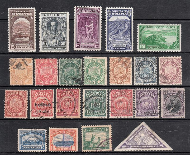 Packet Collection of Stamps from Bolivia