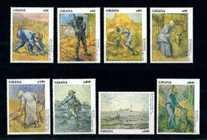 [100188] Ghana 1991 Art Paintings Vincent van Gogh  MNH
