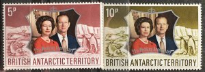1972 British Antarctic Territory Silver Wedding Issue Sc# 43-4 MNH