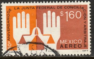 MEXICO C536 50th Anniv. Labor Arbitration Court. Used.F-VF/  (892)