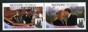 TUVALU VAITUPU 65-66 PAIR MNH SCV $1.75 BIN $1.00 ROYALY
