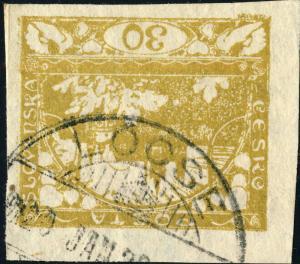 TCHECOSLOVAQUIE / CZECHOSLOVAKIA 1920  LÖCSE ~?  (M.33 LEVOČA V.414-?) on Mi.6