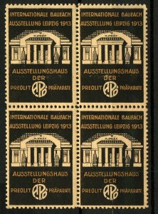 Germany 1913 Leipzig Exhibition Labels