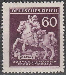 Czechoslovakia Bohemia & Moravia #84  MNH