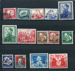 Germany/DDR 1951 Mi 280-292,294 Used Complete Year (-4 stamps) CV 366 euro 2503