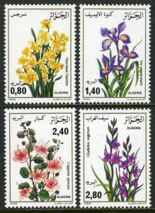 Algeria 825-828, MNH. Flowers. Narcissus, Iris, Capparis spinosa, Gladiolus,1986