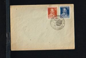 1947 - Allied Occupation Cover Mi. 963-964 - Heinrich von Stephan [B02_105]