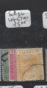 MALAYA SELANGOR    (P0906B)  TIGER   1c-2c  SG 49-51   VFU