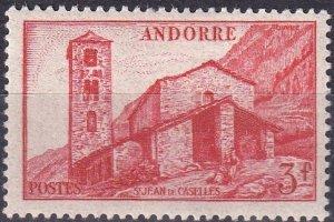 Andorra (Fr) #115 F-VF Unused CV $7.25 (Z9621)