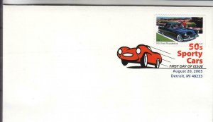 2005, 50's Sporty Cars-1955 Ford Thunderbird, PSNS, FDC (E8967)