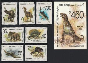 Yemen Prehistoric Animals 7v+MS SG#23-MS30