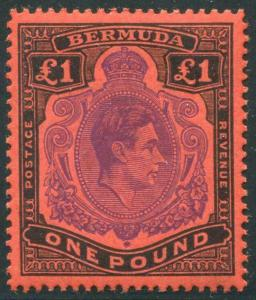 HERRICKSTAMP BERMUDA Sc.# 128 1938 KG VI Printing SG# 121a Listed at £180
