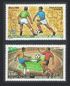 Djibouti World Cup Football Championship Mexico 2v SG#973-974