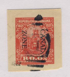 CANAL ZONE - 1921 - Sc.U4 2c RED POSTAL ENVELOPE (CUT-OUT) FINE USED