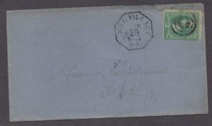 **US 19th Century Cover, Mill Village, PA, 3/29/1881 Octagon CDS Cancel