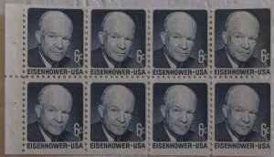United States 1393a Dull Gum Booklet Pane MNH Cat $2.25