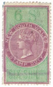 (I.B) Australia - NSW Revenue : Stamp Duty 6/-
