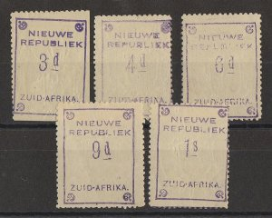 TRANSVAAL - NEW REPUBLIC 1887 3d to 1S with embossed arms, on yellow paper.