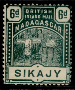 MADAGASCAR QV SG59, 6d green, LH MINT. Cat £14.