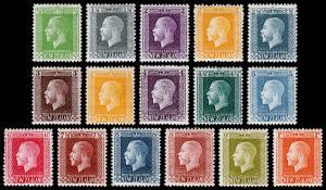 New Zealand Scott 144, 145-159 (1915-22) Mint H/LH VF Complete Set, CV $277.00 M