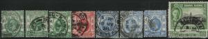 HONG KONG Used Scott # 130,133,137,170 King George V - rem, pencil # (8 Stamps)3