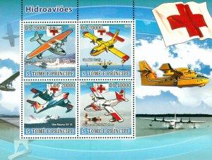 ST THOMAS & PRINCE ISLANDS 1924 MH SS SCV $15.00 BIN $7.50 SEAPLANES