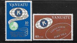 VANUATU, 295-296, MNH, CONVENTION '80