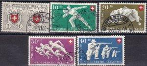 Switzerland #B191-5  F-VF Used CV $23.25  (Z6183)