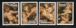 Aitutaki 1987 Christmas set mnh S.C. 408 - 411