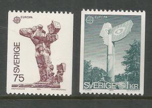 SWEDEN  1049-1050  MNH,  COMMON DESIGN,  EUROPA '74
