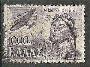 GREECE 1946, used  1000d  Flight Scott 495
