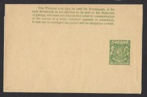 BRITISH EAST AFRICA 1896 QV 1/2a Green NEWSPAPER WRAPPER H&G No. E3 F-VF Unused