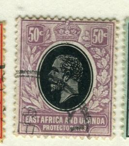 BRITISH EAST AFRICA; 1912 early GV issue fine used Shade of 50c.