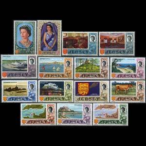 JERSEY 1969 - Scott# 7-21 Views Set of 15 LH one folded