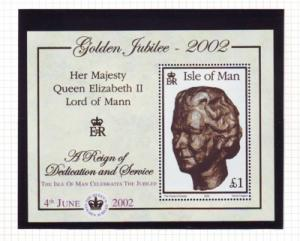 Isle of Man Sc 941b 2002 50th Anniv QE II stamp sheet mint NH