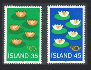 Iceland Water-lilies Nature Conservation and Environment Protection 2v 1977
