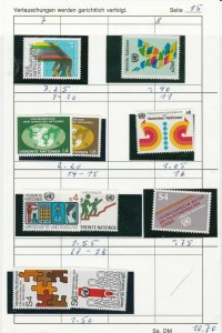 United Nations Mint Never Hinged Stamps  ref R 18294
