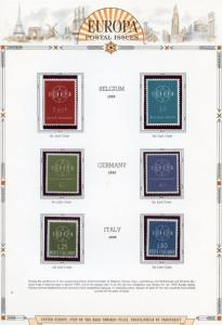EUROPA  1959  SELECTION OF MINT NH STAMPS AND SOUVENIR SHEETS AS SHOWN