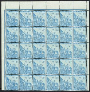 CAPE OF GOOD HOPE 1893 HOPE SEATED 21/2D MNH ** BLOCK