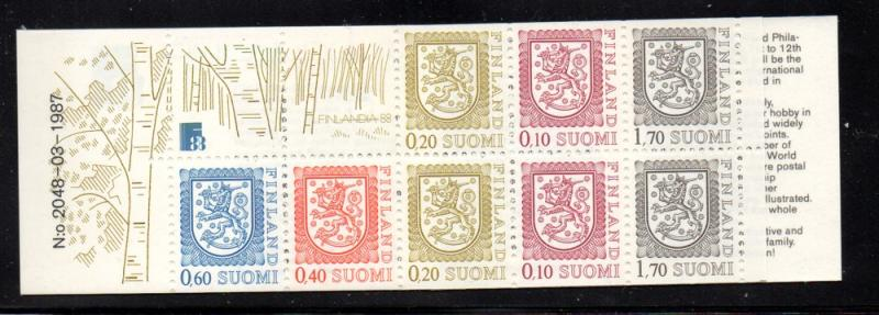 Finland Sc 712a 1987 Coat of Arms stamp booklet mint NH