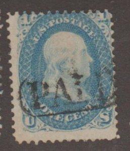 U.S. Scott #63 Franklin Stamp - Used Single - PAID Cancel