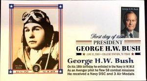 AFDCS 5393 President George H. W. Bush WWII Navy Pilot DSC Air Medals Color CXL