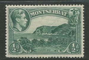 Montserrat - Scott 92 - KGVI Definitives - 1941 - MVLH -Single 1/2d Stamp