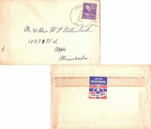 United States California Richvale 1942 4f-bar  Reverse Label Not Tied Help No...