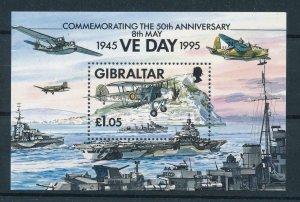 [105313] Gibraltar 1995 World War II end aviation Souvenir Sheet MNH
