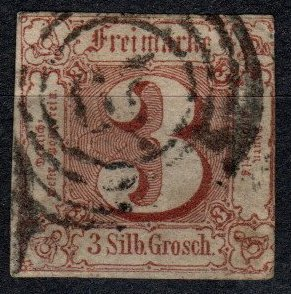 Thurn And Taxis #12 F-VF Used  CV $110.00  (X5179)