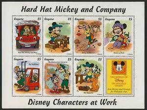 Guyana 2920a MNH Disney, Mickey Mouse, Construction, Truck