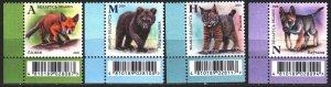 Belarus. 2020. 1328-31. Fox, wolf. MNH.